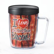 Signature Tumblers Monday Coffee 'I Love You More Than Bacon' 18-oz. Insulated Coffee Mug