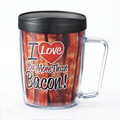 Signature Tumblers Monday Coffee 'I Love You More Than Bacon' 18-oz. Insulated Coffee Mug