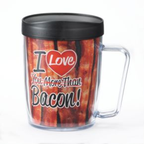 "Signature Tumblers Monday Coffee ""I Love You More Than Bacon"" 18-oz. Insulated Coffee Mug"