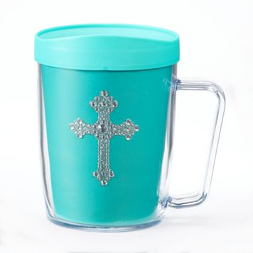 Signature Tumblers Monday Coffee Bling Cross 18-oz. Insulated Coffee Mug