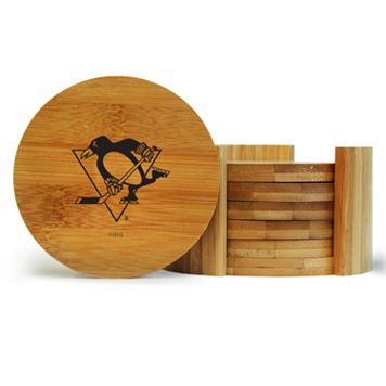 Pittsburgh Penguins 6-Piece Bamboo Coaster Set