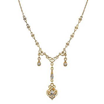 Downton Abbey Filigree Y Necklace