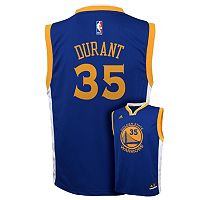 Boys 8-20 adidas Golden State Warriors Kevin Durant NBA Replica Jersey