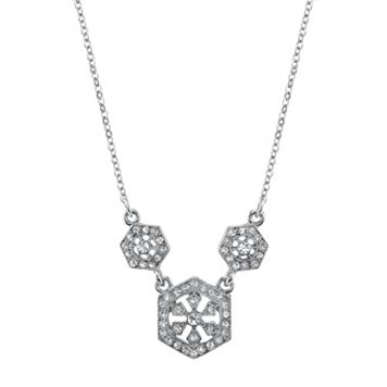 Downton Abbey Triple Hexagon Necklace