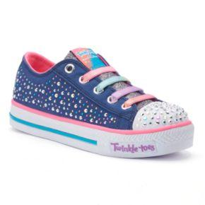 Skechers Twinkle Toes Shuffles Twirly Toe Girls' Light-Up Shoes