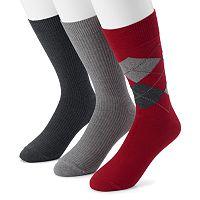 Men's Dockers 2-pack Argyle & Solid Dress Socks