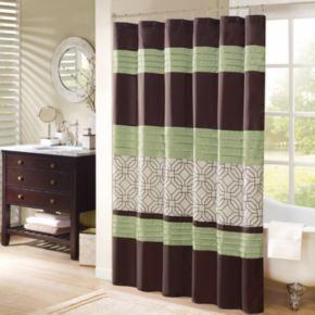 Madison Park Lindan Embroidered Shower Curtain