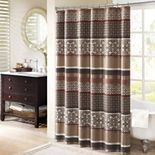 Madison Park Dartmouth Jacquard Shower Curtain