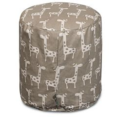 Majestic Home Goods Stretch Small Pouf Ottoman