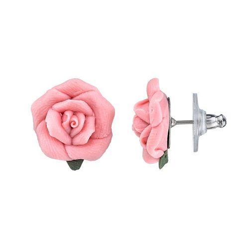 1928 Rose Stud Earrings
