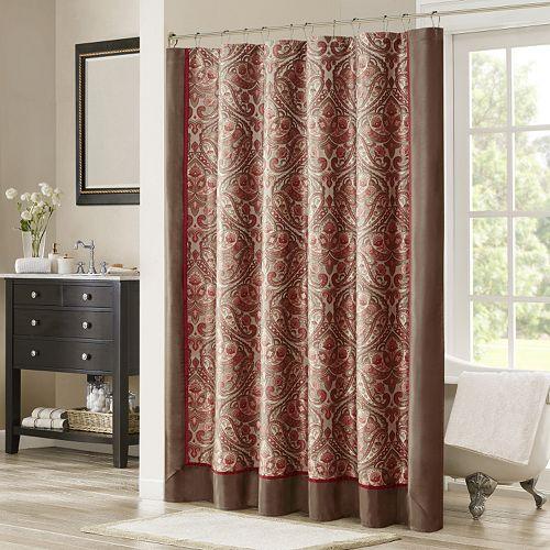 Madison park preston jacquard shower curtain - Madison park bathroom accessories ...