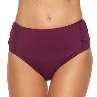 Women's Apt. 9® Semi High-Waisted Scoop Bikini Bottoms