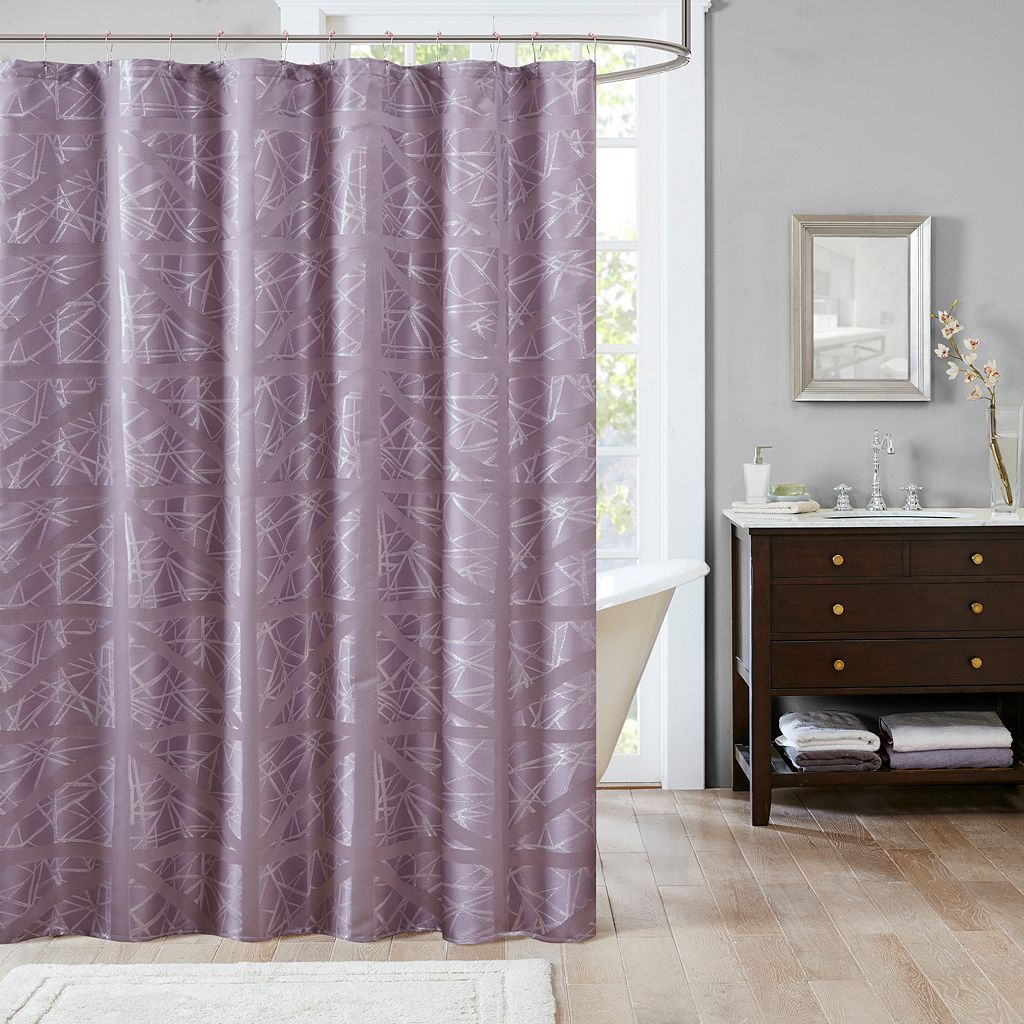 Madison Park Nico Jacquard Shower Curtain