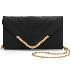 Lenore by La Regale Crisscross Envelope Clutch