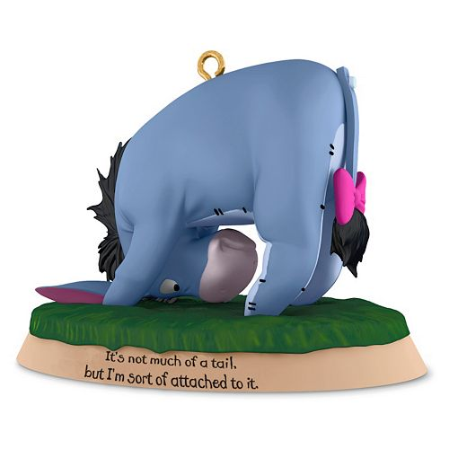 Disney's Winnie the Pooh Eeyore Not Much Of A Tail 2016 Hallmark Keepsake Christmas Ornament