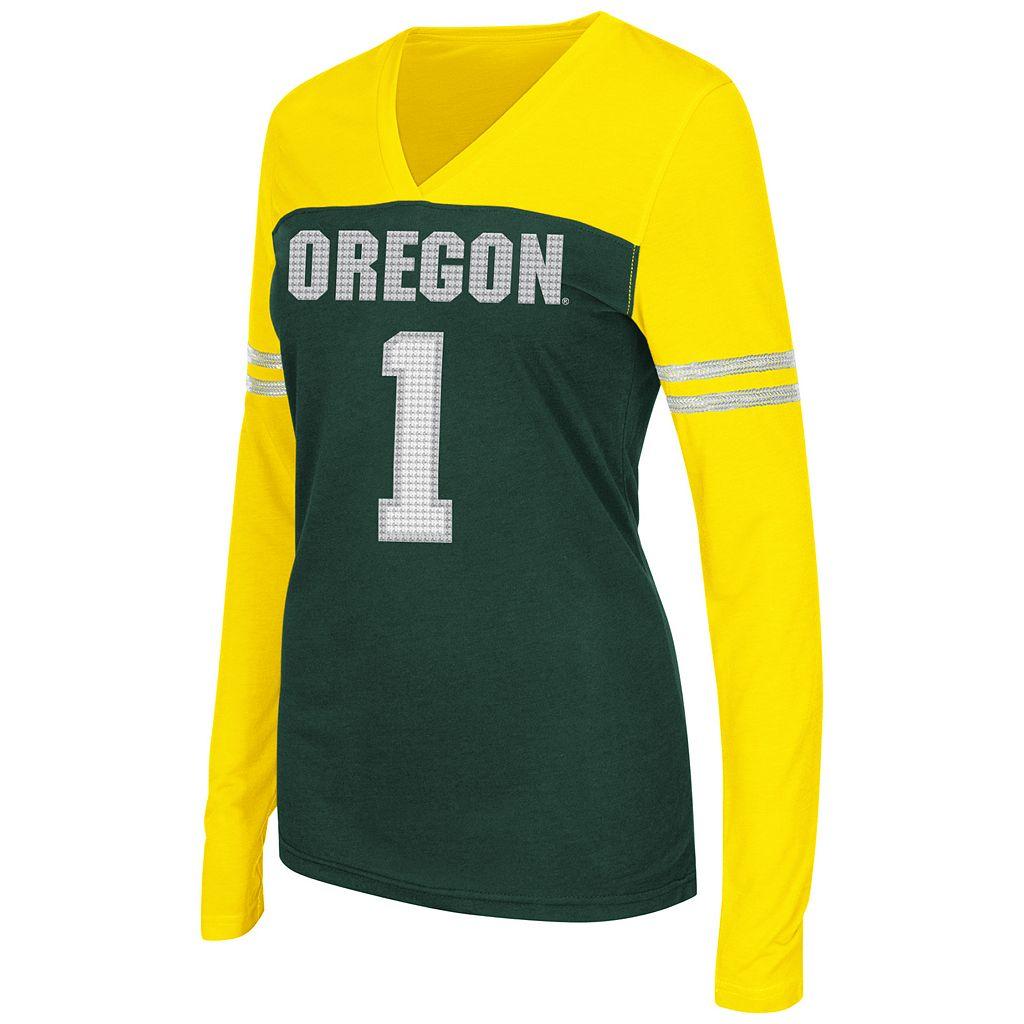 Juniors' Campus Heritage Oregon Ducks Packed Powder Tee