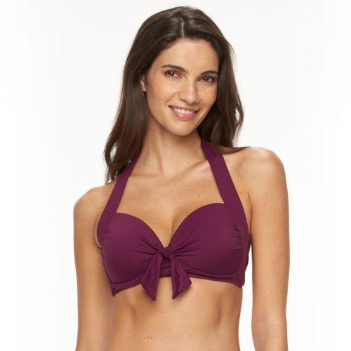 Women's Apt. 9® Twist-Front Halter Bikini Top