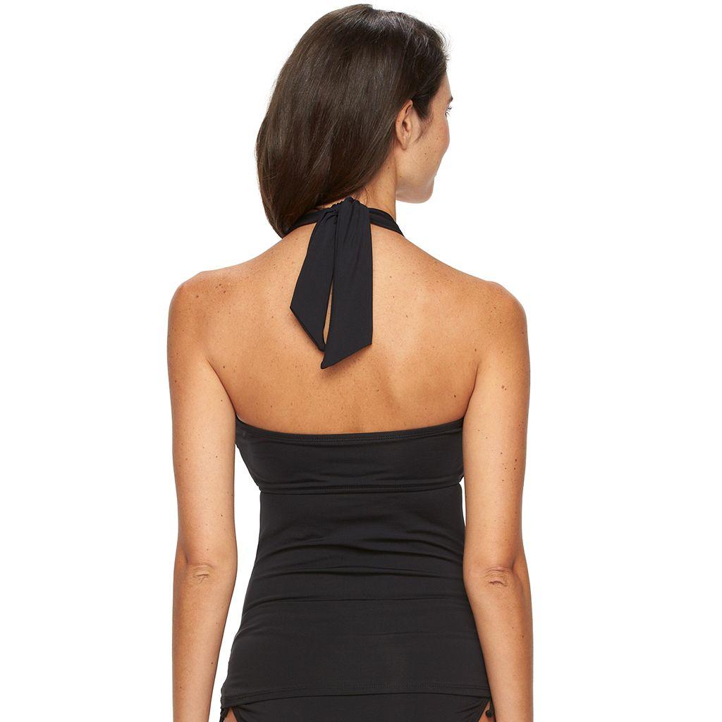 Women's Apt. 9® Colorblock Halterkini Top