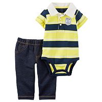 Baby Boy Carter's Striped Polo Bodysuit & Pants Set