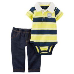 Baby Boy Carter's Striped Polo Bodysuit & Pants Set