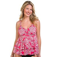 Women's Upstream Tiered Paisley Tankini Top