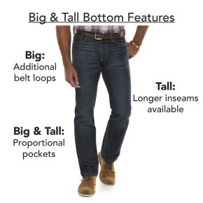 Big & Tall Croft & Barrow® Relaxed-Fit Easy-Care Stretch Pleated Pants