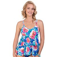 Women's Upstream Floral Tiered Tankini Top