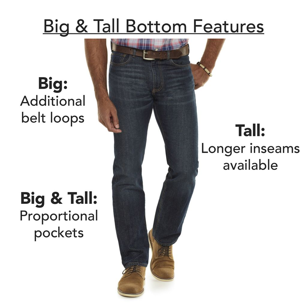 Big & Tall Croft & Barrow® Easy-Care Classic-Fit Stretch Pleated Pants