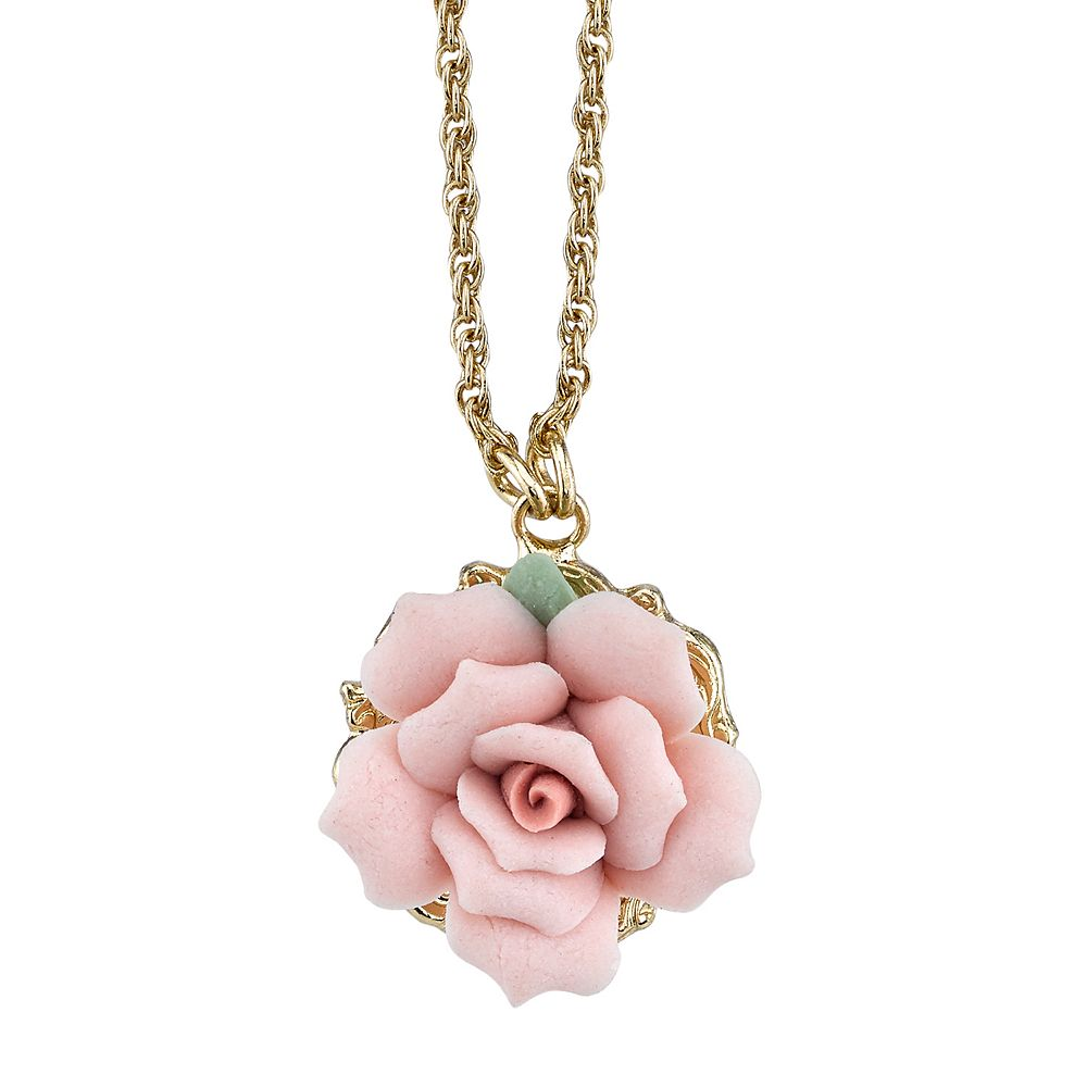 Pink rose necklace 1928 pink rose necklace audiocablefo