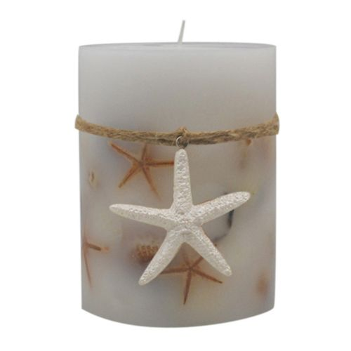 SONOMA Goods for Life™ White Sand Shores 4″ x 3″ Pillar Candle