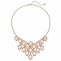 Mudd® Pink Teardrop Statement Necklace