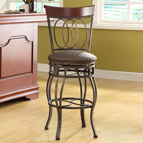 Remarkable Homepop Olivia Tall Barstool Bralicious Painted Fabric Chair Ideas Braliciousco