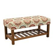 HomePop Medallion Entryway Bench