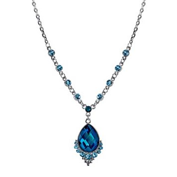 1928 Blue Teardrop Necklace