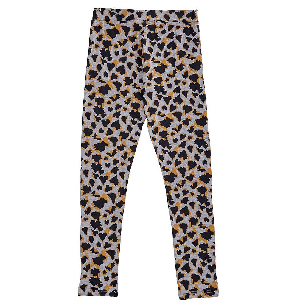 Girls 4-6x French Toast Leopard Heart Leggings
