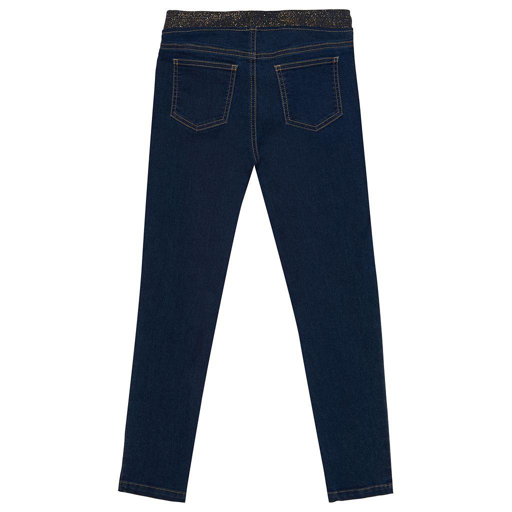 Girls 4-6x French Toast Metallic Waist Skinny Denim Pants