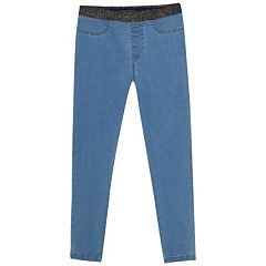 Girls 4-6x French Toast Metallic Waist Skinny Denim Pants