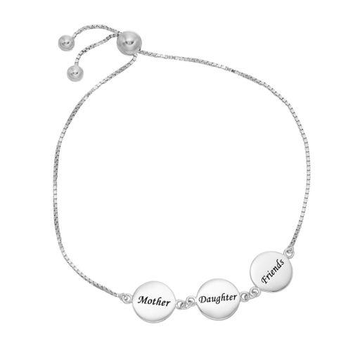 Timeless Sterling Silver Mother Daughter Friends Bolo Bracelet