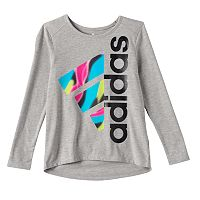 Girls 4-6x adidas Tilted Graphic High-Low Hem Tee