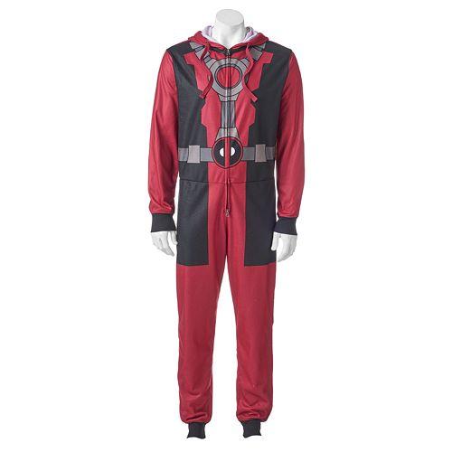 Men's Marvel Deadpool Dead Peezy Microfleece Union Suit