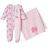 Baby Girl Baby Starters Sleep & Play & Plush Blanket Set