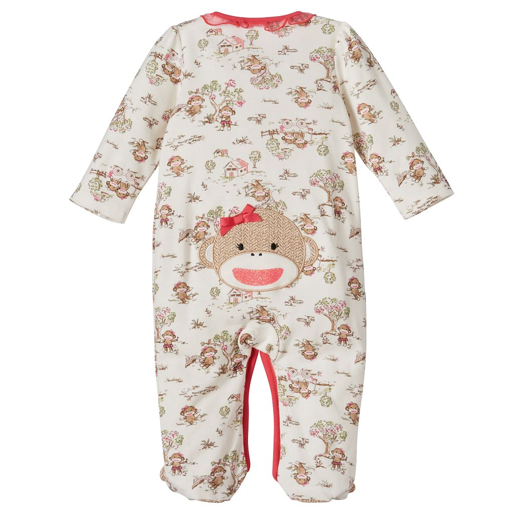 Baby Girl Baby Starters Sock Monkey Sleep & Play