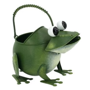 Celebrate Spring Together Indoor / Outdoor Metal Frog Watering Can