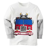 Baby Boy Carter's Mock-Layered Long Sleeve Bold Graphic Tee
