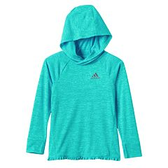 Toddler Girl adidas Faux-Wrap Back Hooded Top