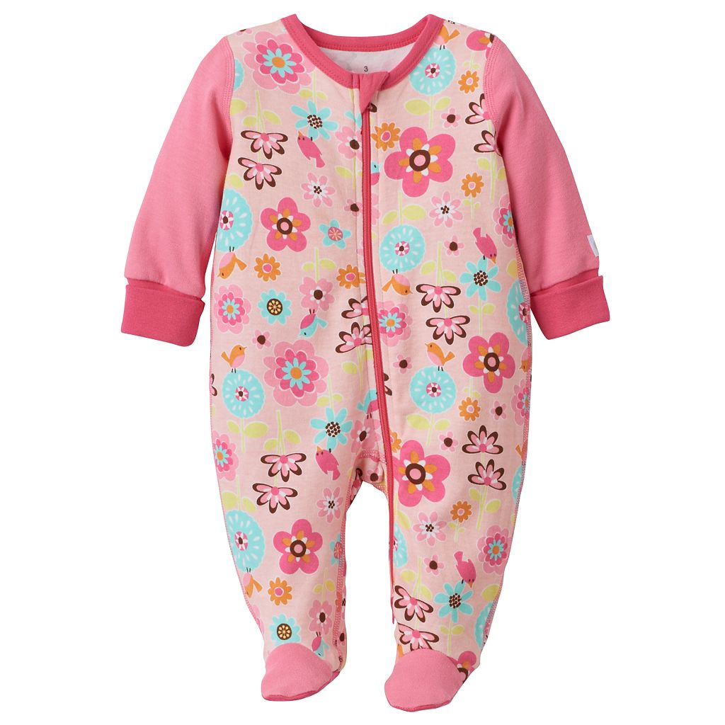 Baby Girl Boppy Floral Sleep & Play