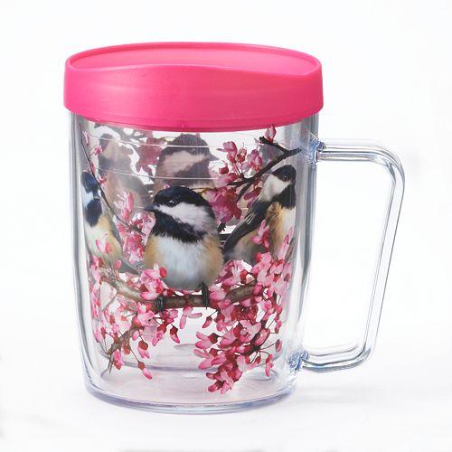 Signature Tumblers Monday Coffee Chickadees 18-oz. Insulated Coffee Mug