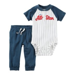 "Baby Boy Carter's ""Mommy's All-Star"" Henley Bodysuit & Pants Set"