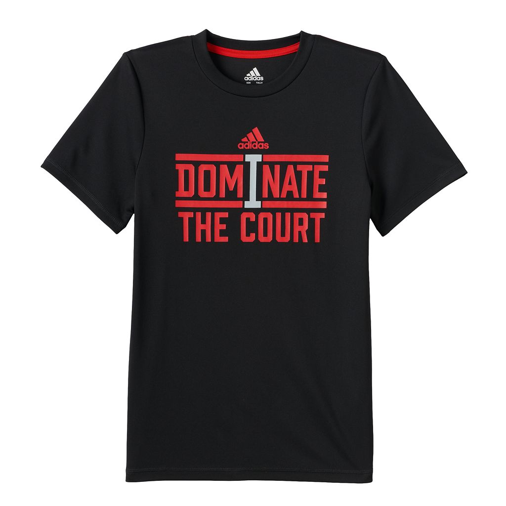 Boys 8-20 adidas Dominate the Court ClimaLite Tee