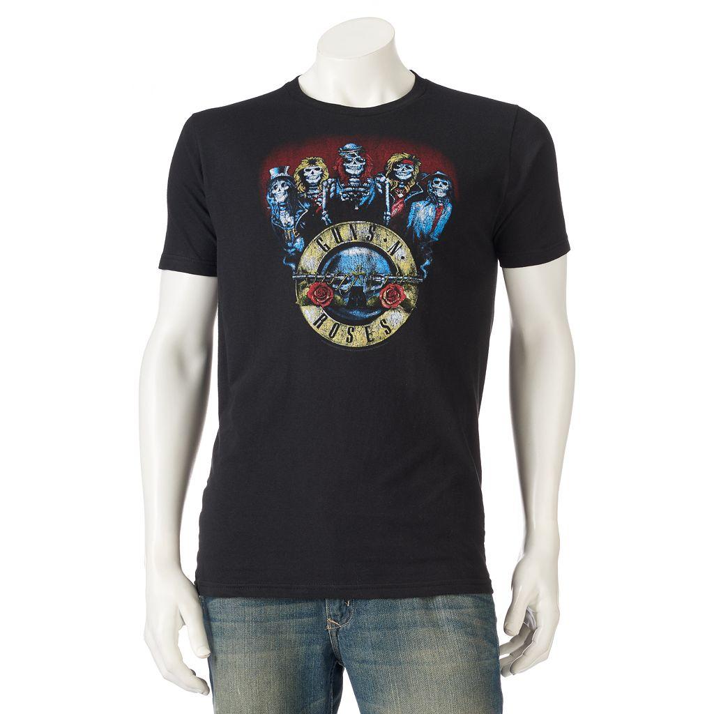 Men's Guns N' Roses Skull Band Tee